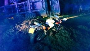 Un motard sauvé d'un accident grâce à du fumier répandu sur la chaussée