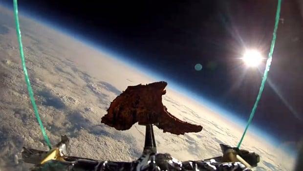 Deux amis envoient une côte d'agneau tandoori dans l'espace