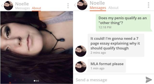 Il rédige un essai de six pages sur son pénis pour séduire une fille sur Tinder