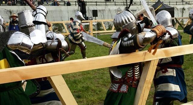 Pologne championne 2015 combats médiévaux