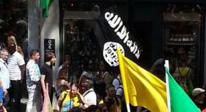 faux drapeau état islamique gay pride de Londres