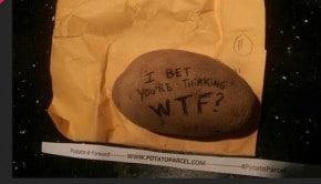 Potato Parcel start-up envoi message sur patate
