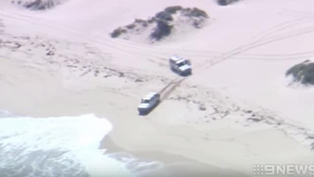 conducteur poursuivi par police fonce dans océan indien