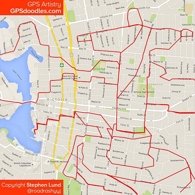 Christ Rédempteur tracé avec GPS