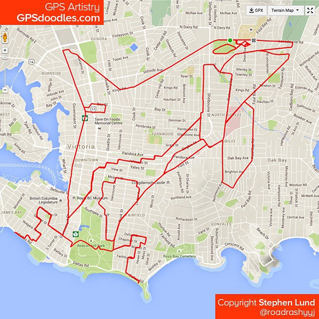 Orque dessiné avec GPS