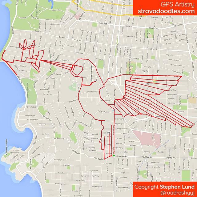 Pic vert tracé sur carte avec un GPS