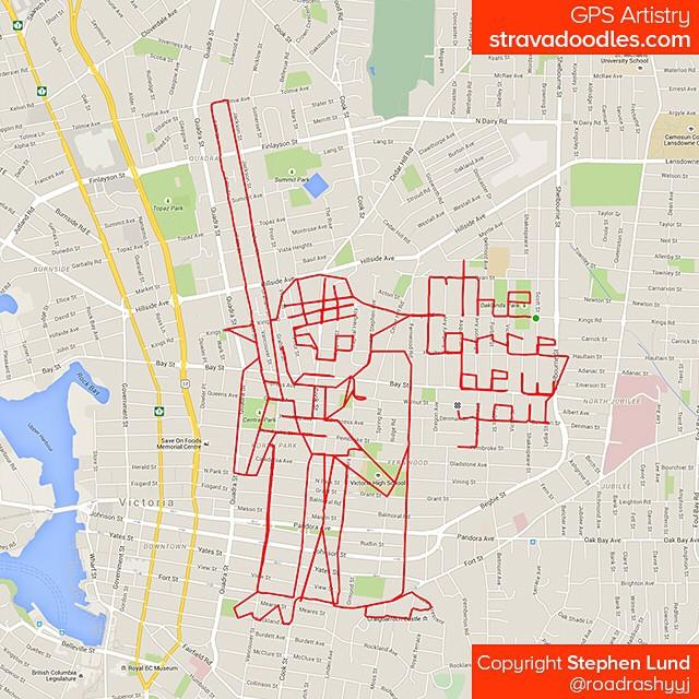 Yoda tracé avec GPS