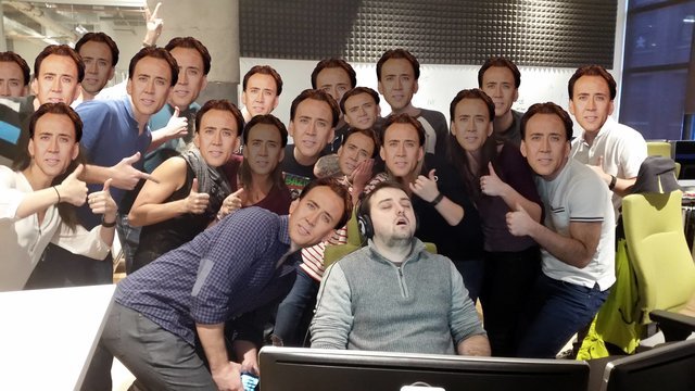 endormi deuxième jour de stage détournement Nicolas Cage