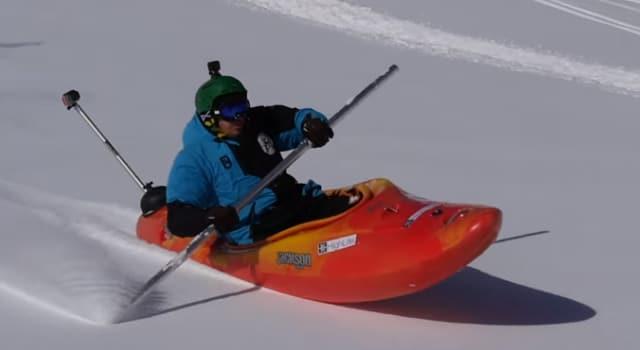 Du kayak sur neige