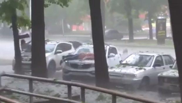 averse de grêle en Russie